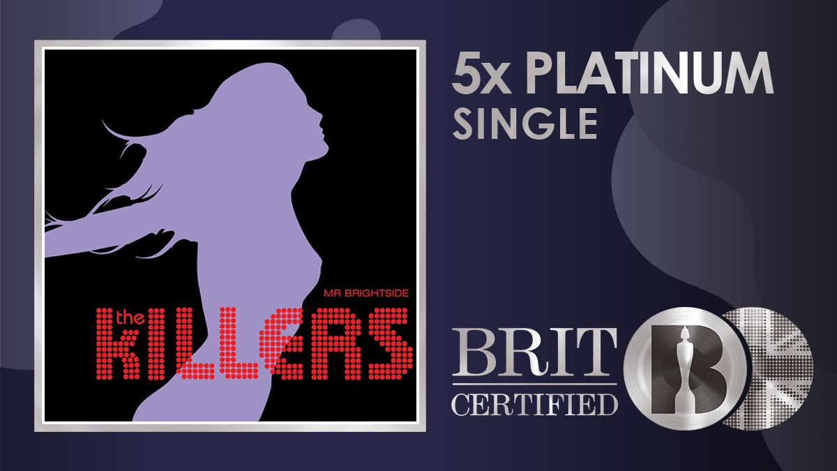 @thekillers' anthem 'Mr Brightside' is now a massive #BRITcertified 5x Platinum! <br>http://pic.twitter.com/B65r5ccNyf