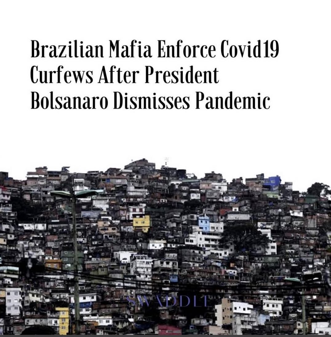 """""""If the government doesn't have the capacity to stop the pandemic, organised crime will."""" #Brazil #CoronaLockdown #COVID2019pic.twitter.com/ywcIV4Rqhs"""