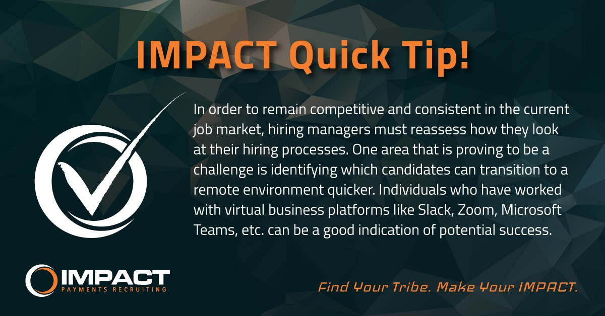 #fintechrecruiting #paymentsrecruiting #hiringtips #tips #findyourtribe #makeyourimpact  https://jobs2.smartsearchonline.com/go-impact/jobs/ pic.twitter.com/J6OEPDSbWC