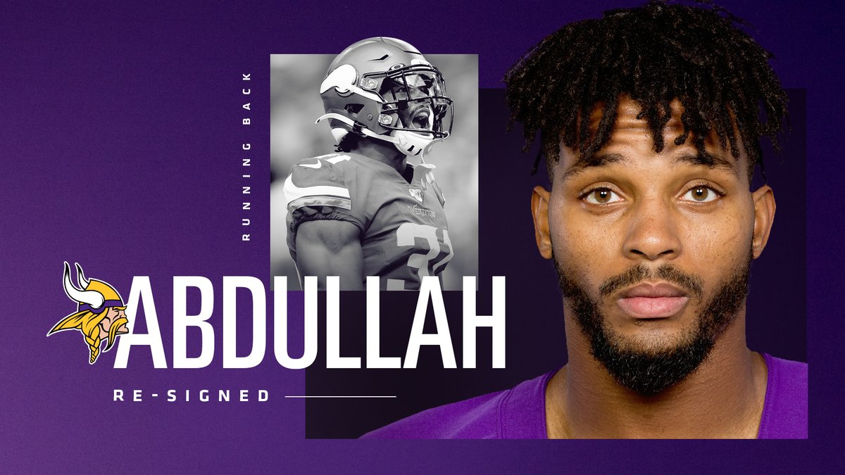 The #Vikings have re-signed RB @Ameerguapo. 📰: mnvkn.gs/3dBxjnW
