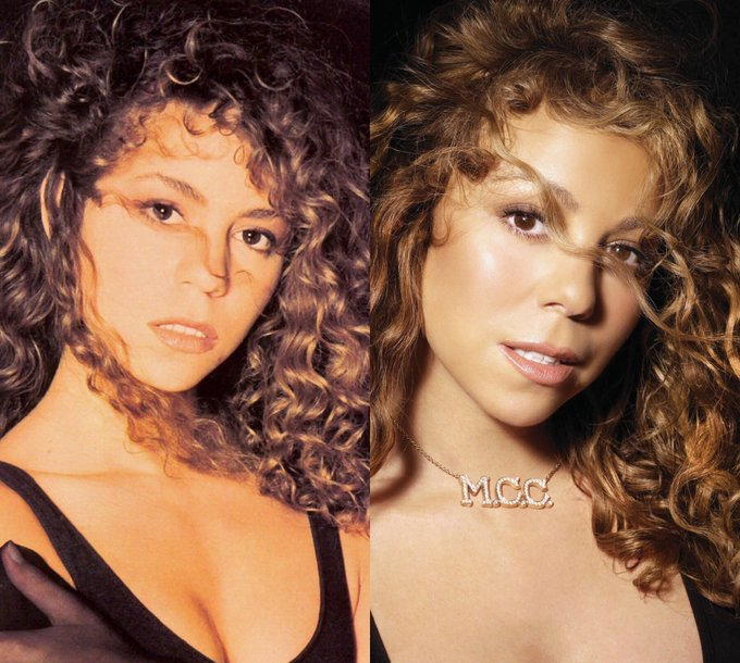 Mariah Carey paying homage to herself throughout her career is still iconic.  happy birthday to a living legend