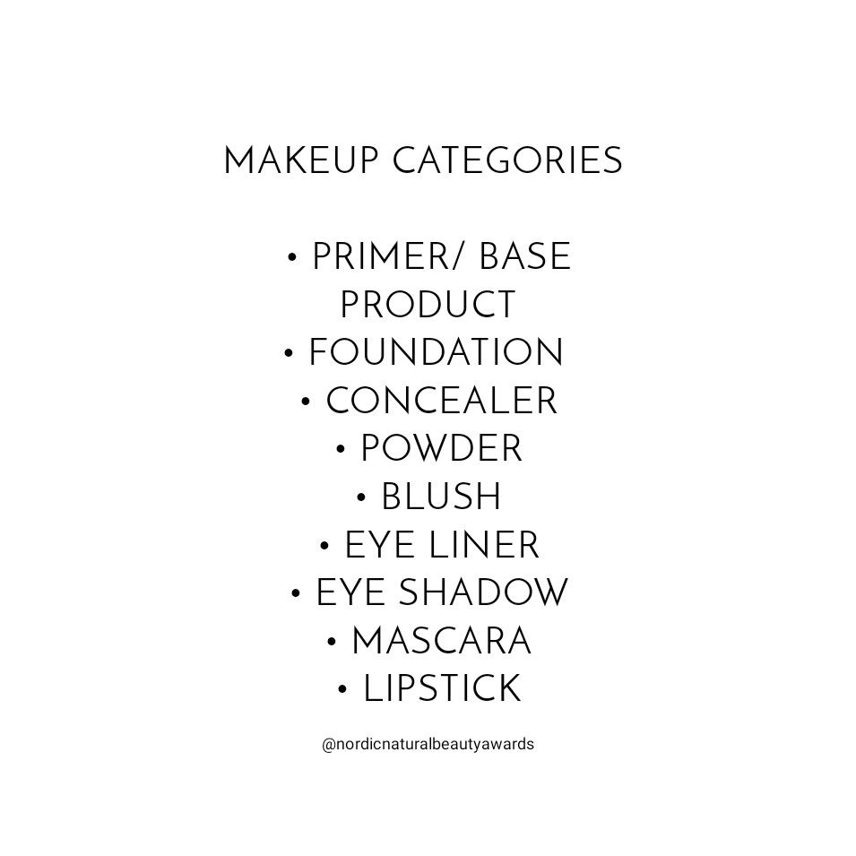 To start this weekend with the positive note so to say, we are happy to announce the makeup categories of the awards! #NaturalMakeup #ToxinFree #NonToxic #NaturalBeauty #NordicBeauty #Awards #Friyaypic.twitter.com/ZAEY4EZbkT