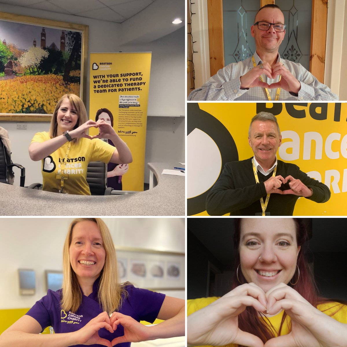 #Werewithyou  💛Staff at The Beatson are welcome into our Wellbeing Centre  💛Our Friendly Welcome Desk still there for patients  💛 Wellbeing & SHAWS online support will be available via web & social  If you can please support us at this difficult time:
