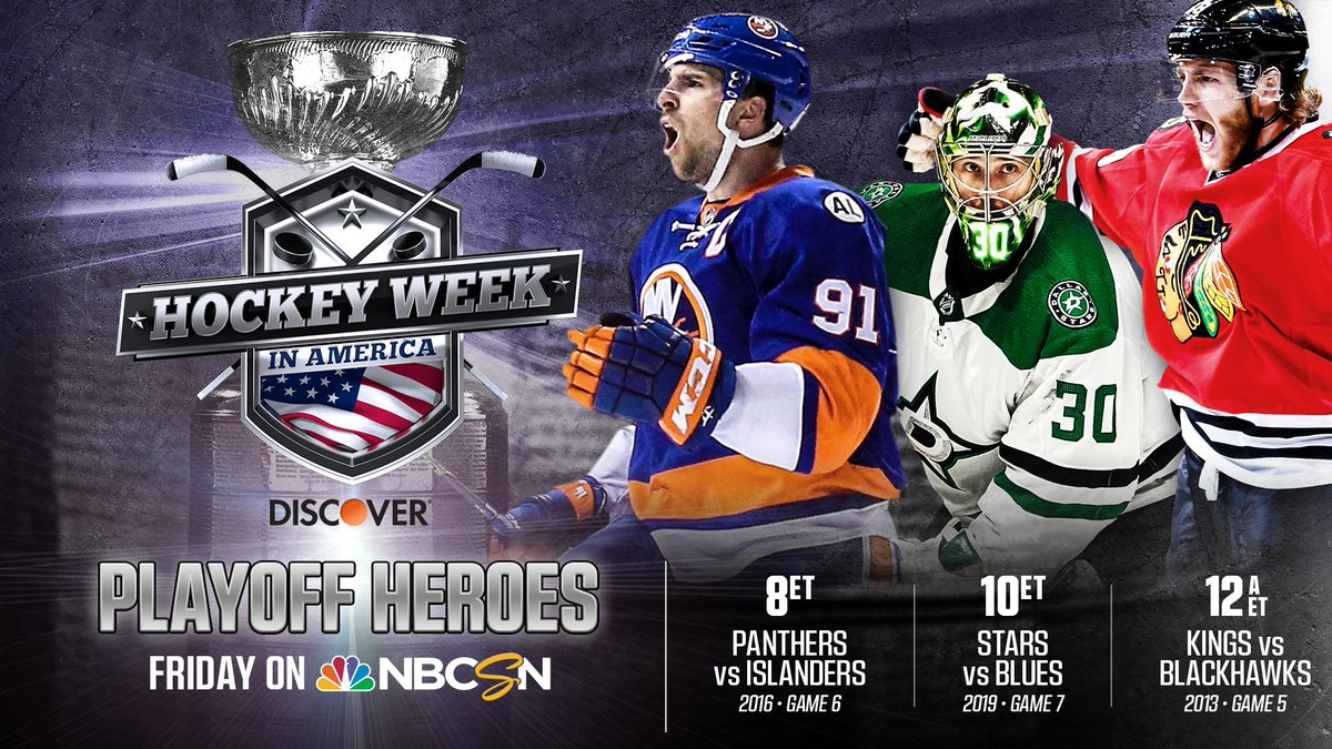Ready for more hockey!? Today we have playoff superstars! This will be fun to watch!! #HockeyWeek