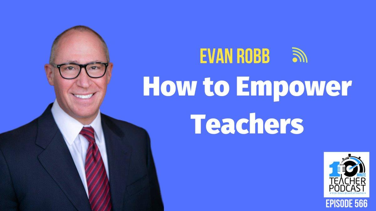 How to Empower Teachers cctea.ch/2LSkrhs with @ERobbPrincipal #teacher