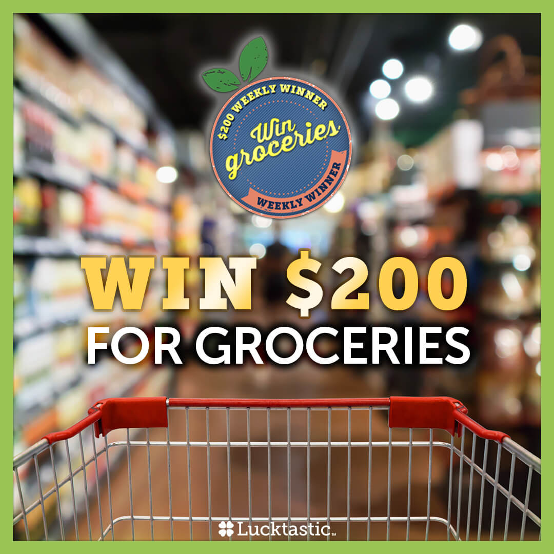 NEW WEEKLY CONTEST STARTS NOW: Lucktastic is helping out one family buy groceries! 🍊🌽They will receive $200 towards food, will you be this week's winner? 🤔 Play Lucktastic now to enter. 🍀