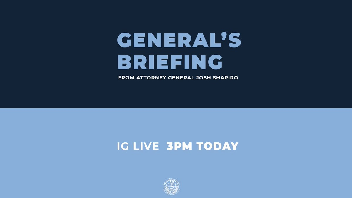 Going live on Instagram at 3pm for another General's Briefing. See you there: bit.ly/39rHWXg