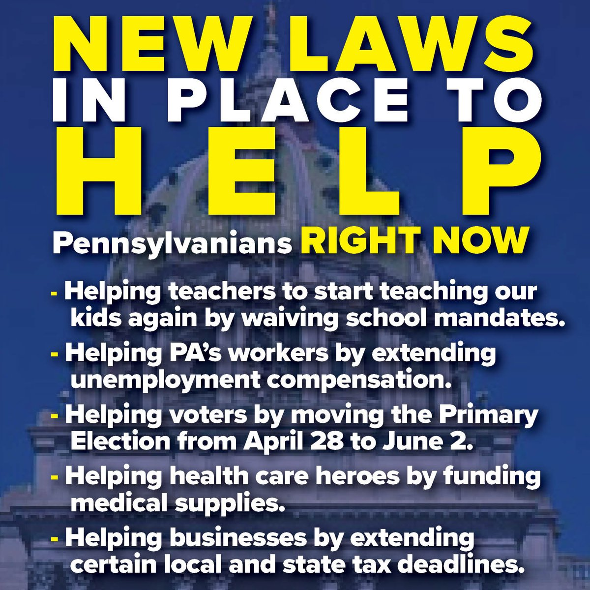 📍 Details on the new laws at PAHouseGOP.com/cvhelp