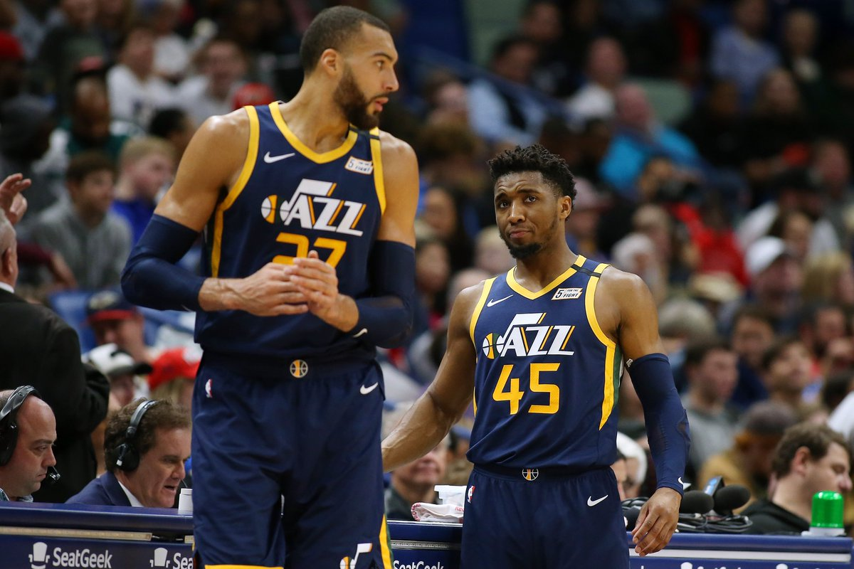 Rudy Gobert e Donovan Mitchell, do Utah Haz, estão curados da Covid-19 #NBA