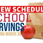 Image for the Tweet beginning: School servings will return to