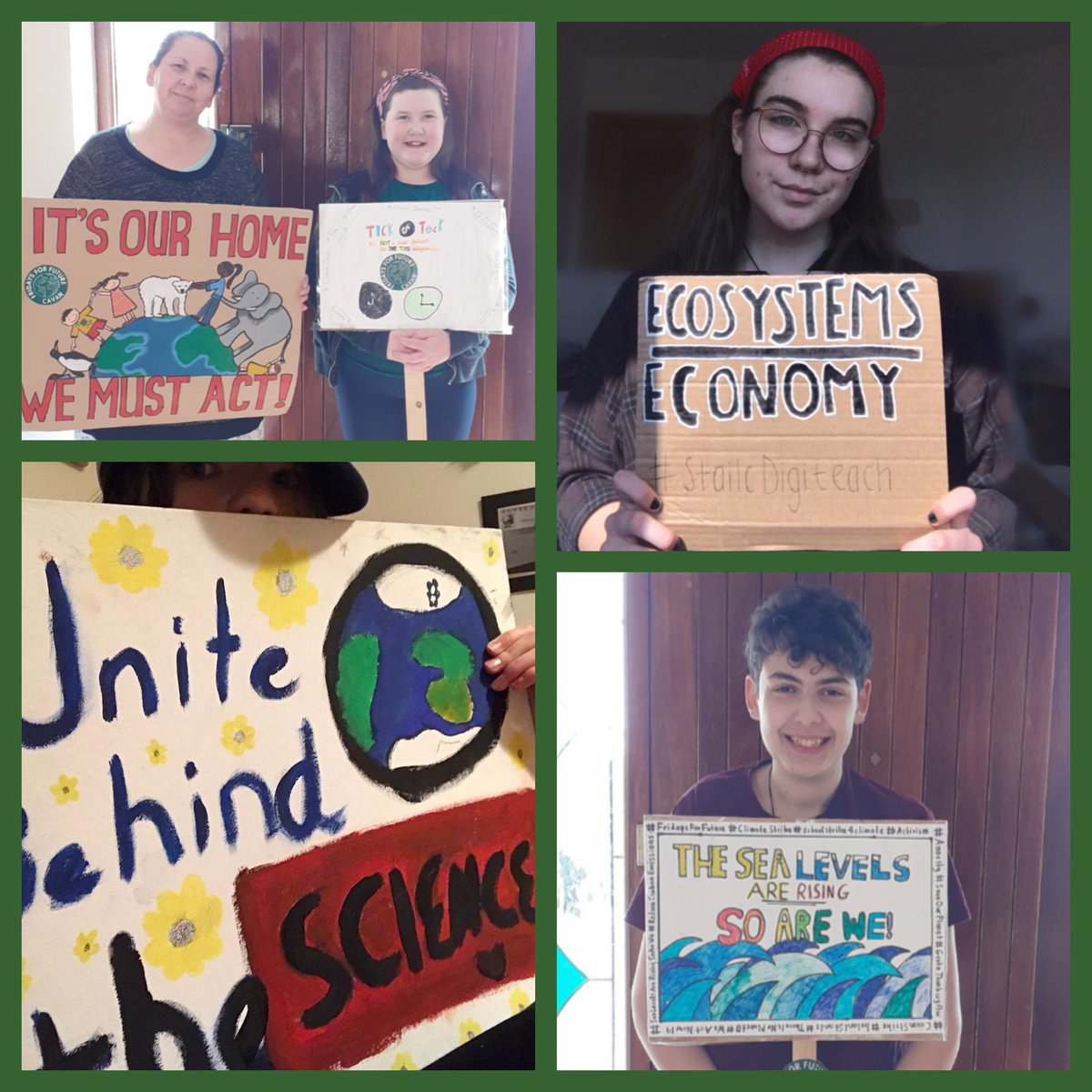 We can not go out and strike because of COVID-19 - so we joined the #climatestrikeonline. You can join by using that hashtags #digitalstrike #stailcdigiteach #stailcaeráide. 🌏🤗 #fridaysforfuture #climatestrike #coronavirus #ireland #teamtrees #climateaction #noplanetb