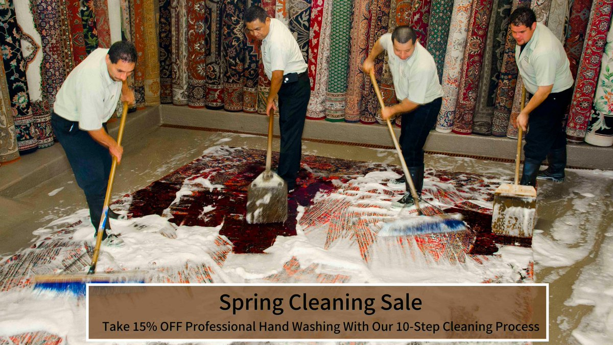 Why rug clean a new hand-knotted rug? Even new fine rugs need a wash before you use them. It may have been pre-washed once after getting off the loom but not with clean water. #deepcleaning #rugidea #rugcleaning #Dallaspic.twitter.com/0HtCpwcy4V