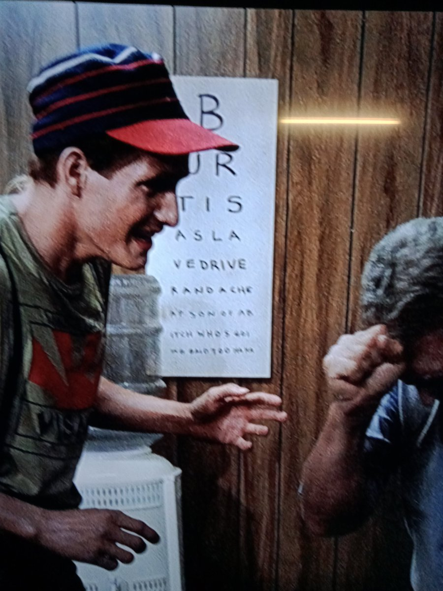 Marc Lindsay On Twitter Watching Return Of The Living Dead A Movie I Have Seen A Dozen Times Never Noticed Until Now The Eye Chart In The Background Between Freddy And Burt