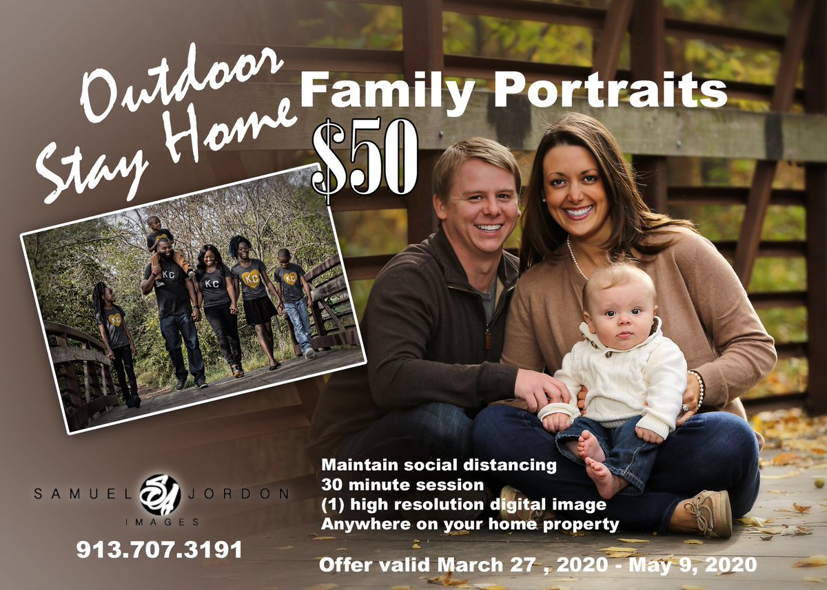Family bonding... Offering 30 min outdoor family photo session on your homes property. This can be in your front yard, back yard, or side of the house. I will maintain 6 ft social distance. You will receive (1) high res image. All for $50.00. See flyer #familypictures pic.twitter.com/uJiKA1laER