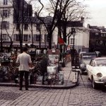 Image for the Tweet beginning: Place du Tertre.  Montmartre 1960s.