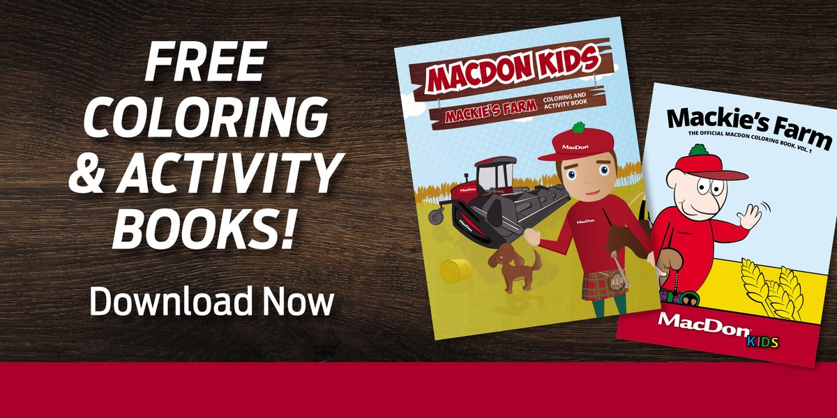 Keep the kids (or adults) occupied with some #MacDon fun. Download our free coloring & activity books here: bit.ly/MacDonKids
