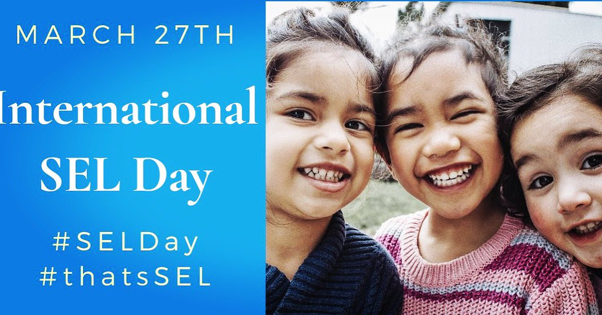 Today is International SEL Day. Social Emotional Learning - something we are all struggling with as we learn to empathize and care for our fellow humans during this life-altering shared experience. And kids are feeling the same anxiety and uncertainty #SELday #SEL4US #SEL4CA