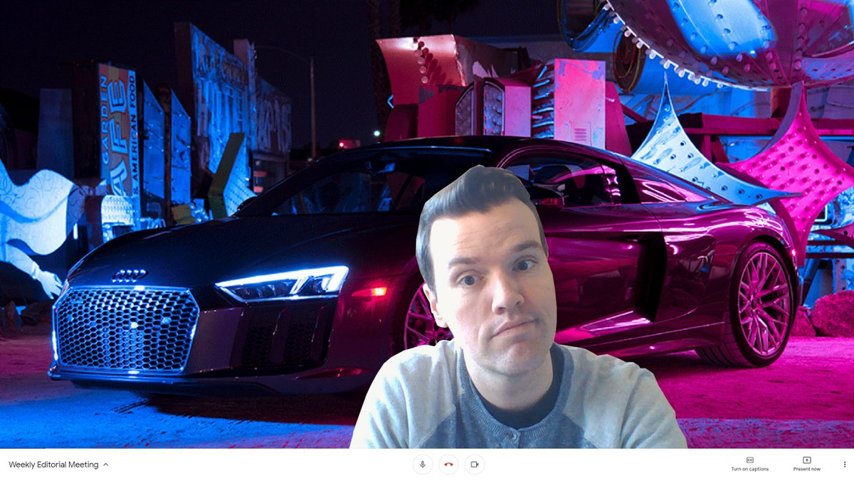 Spice up your video chat with some @Audi flavor.