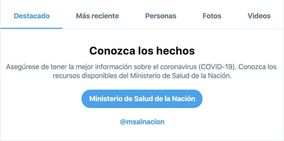 Gracias a la colaboración del @msalnacion ahora los avisos de búsqueda también están localizados en Argentina.