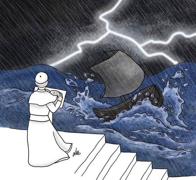 El Papa, ante la tempestad