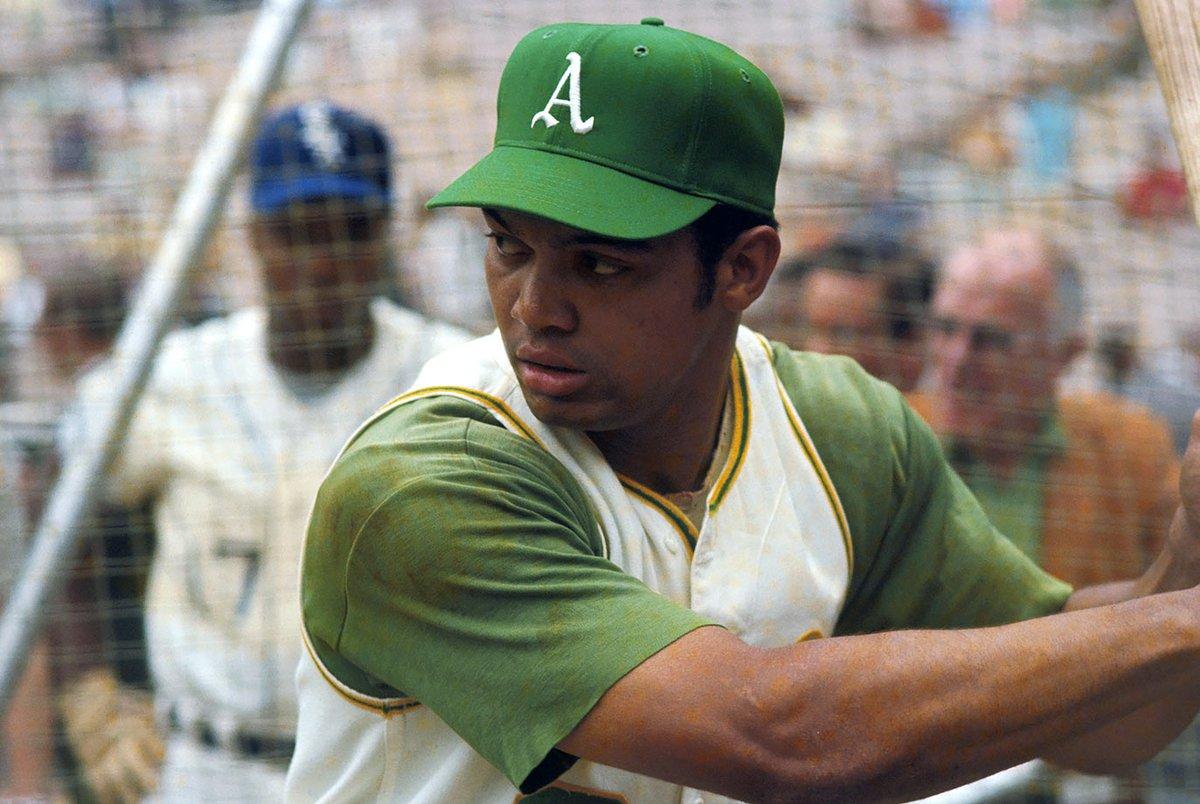 Reggie Jackson - BP at the 1969 MLB All Star Game - Carlos May in the background - RFK Stadium - Washington, DC