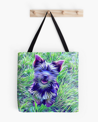 Black #YorkshireTerrier #Totebag is Just Perfect, Whether you are excited about a Trip, or just looking for a way to pack up everything you need for the Day, Sizes - Small 13x13 inch, Medium 16x16 inch & Large 18x18 inch http://bit.ly/YorkieBagpic.twitter.com/MVpcEmlWVX