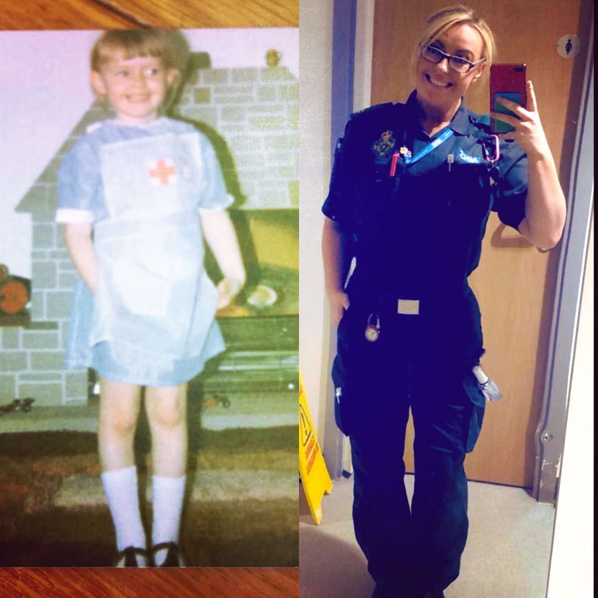 It was always written in the stars it seems🤔 My mum went & digged out this old chestnut from the family album🙈 From being a little girl I had my heart set on the #NHS & here I am, giving my all for it #destiny #COVID19