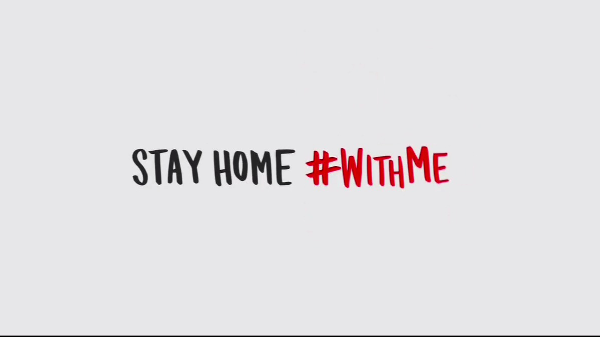 Even though we're apart, there's a million things we can do together. #StayHome  and help save lives. #WithMe