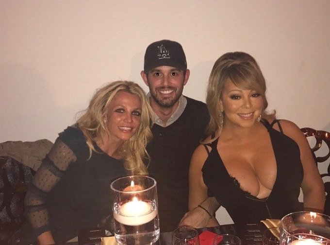 Britney Spears wishes Mariah Carey a happy birthday.  You are one of the main reasons I started singing...