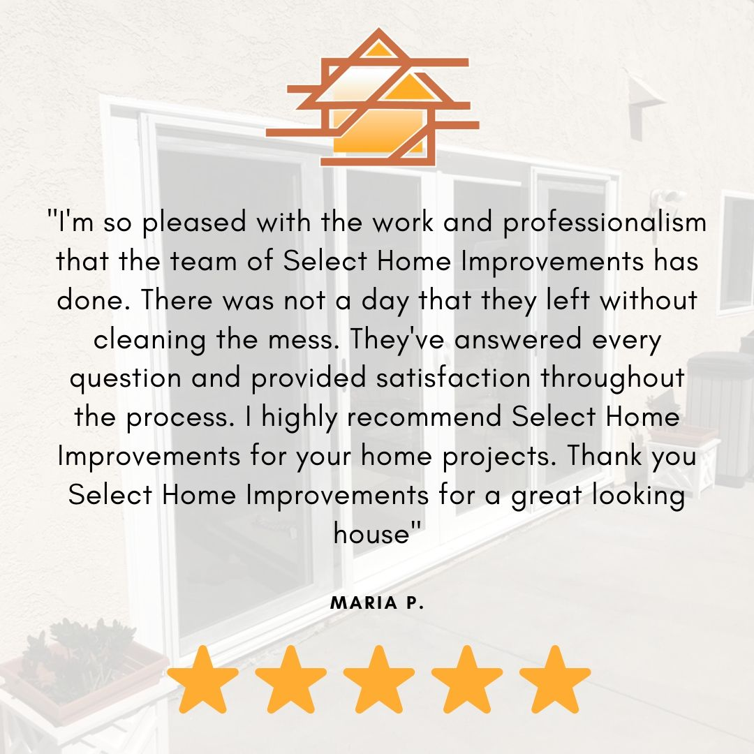 Thank you for the review, Maria! We're more than happy to help. For anyone who is interested in starting a new home improvement project, give us a call at (714) 942-2822 or visit our website at https://selecthi.com. #homerenovation #homeimprovement #homedesign #homeremodelpic.twitter.com/FPBWWLf7vE