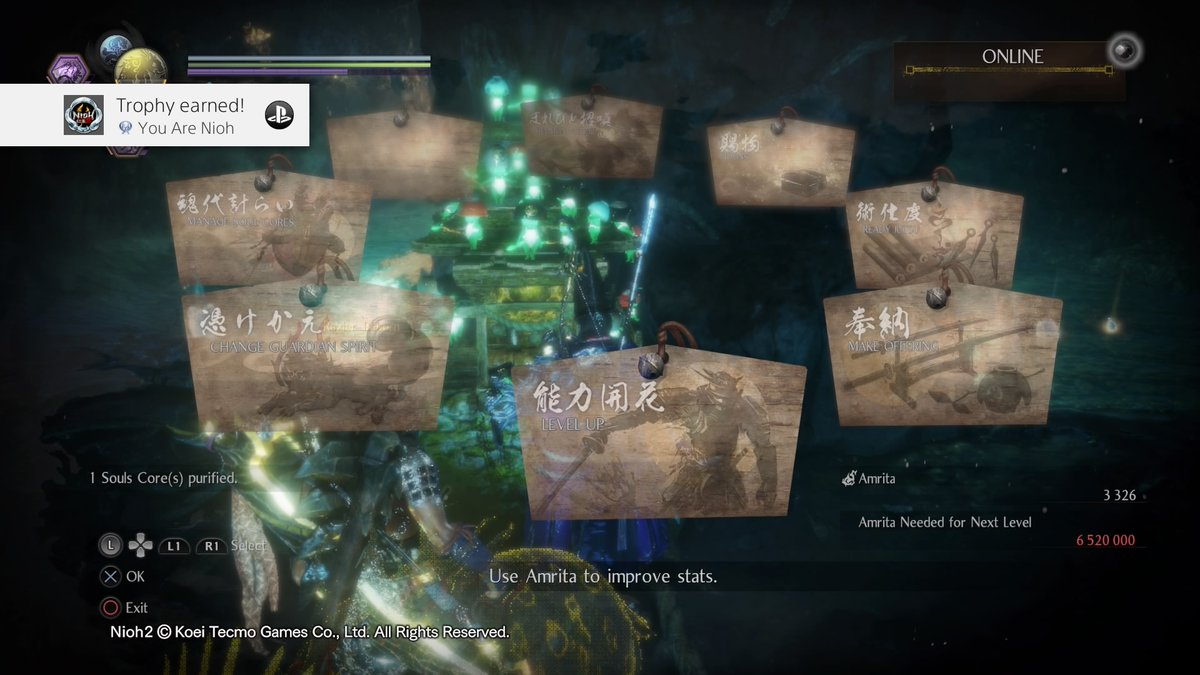 Nioh 2 You Are Nioh (Platinum) Obtained all trophies.  https://t.co/grz9KfyBhF