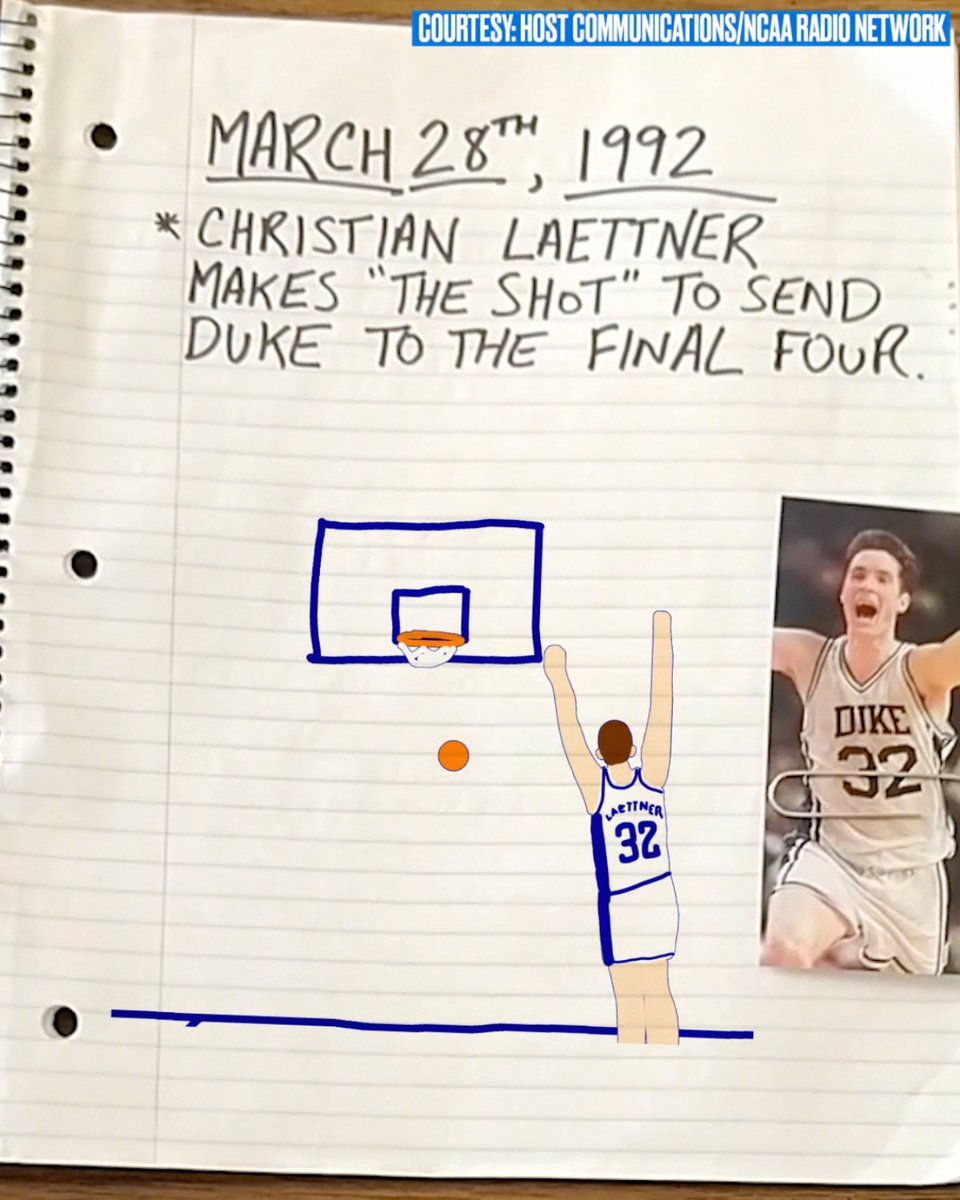 28 years ago today, @laettnerbball hit one of the most iconic shots in NCAA history 👏🔥