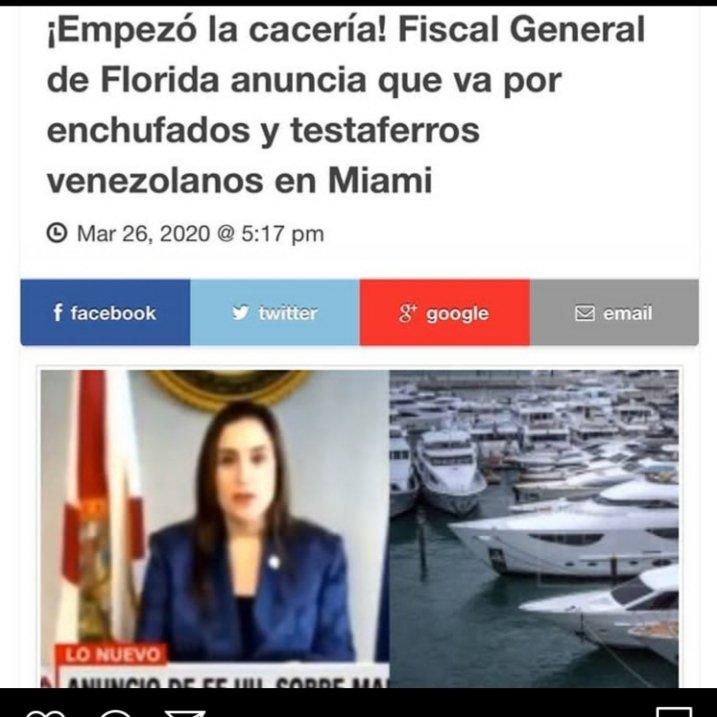 ¡Que se preparen! Fiscal General de Florida anuncia que iran tras los enchufados y testaferros venezolanos que se encuentren en Miami.  #Noticias #Notiexpresscolor #Miami #Venezuela #Sucesospic.twitter.com/zVfsqMbd60