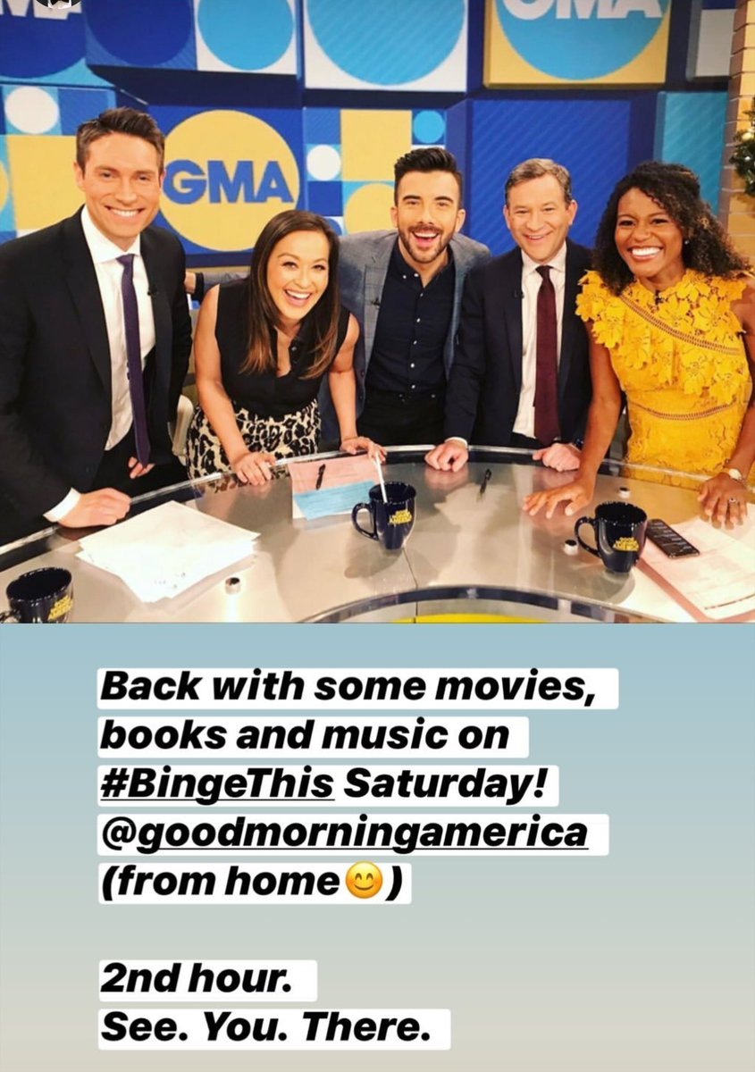 Tune in to @GMA tomorrow morning for 'Binge This' with #PeopleNow host Jeremy Parsons.