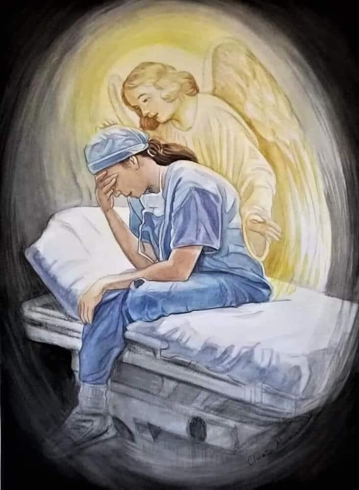 May the prayers & thanksgiving of all the faithful & all America become the strength for all those who serve our country today, sometimes at the risk of their lives. We express gratitude for all our healthcare professionals in this time of #COVID19. God bless you all!   #Praypic.twitter.com/SPrFXKy44y