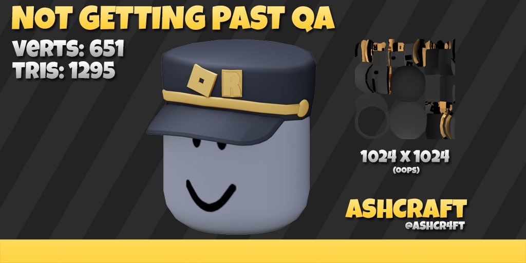 Roblox Catalog Jotaro Ashcraft On Twitter This Was My First Successfully Baked And Textured Hat And I Got So Much Support After I Initially Posted This On Twitter This Would Never Make It To The