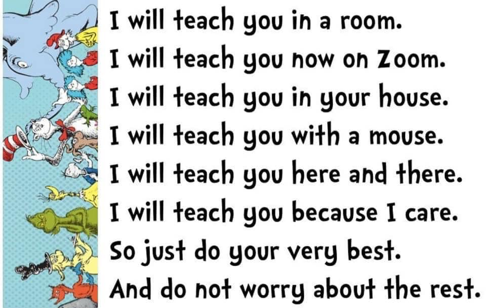 For all teachers and students because we all care