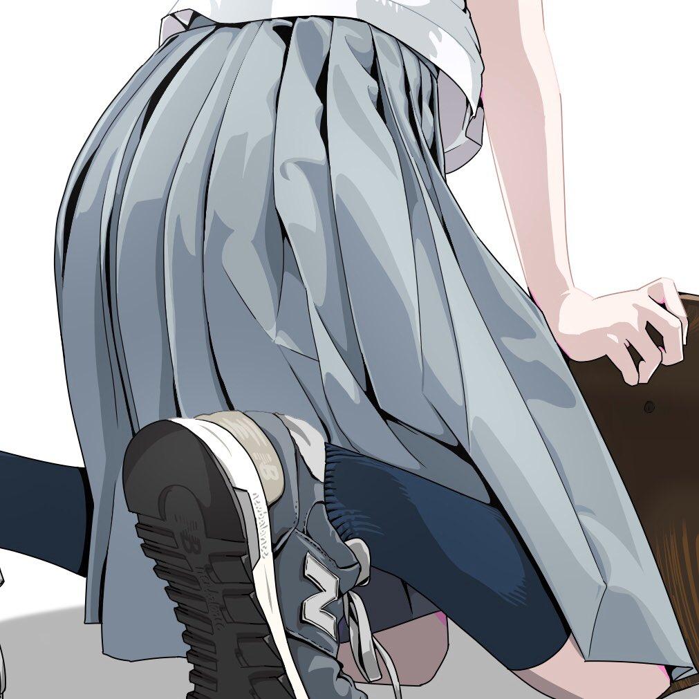 #上手い下手は別にして自分の絵柄のここが好き プリーツスカート
