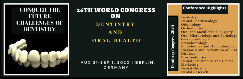 @OralHealthWatch  …https://dentistrycongress.dentistryconferences.com Submit your abstract on future of #Dentaltechnology and #dentalinnovations to 26th World Congress on #Dentistry and #Oralhealth held on Aug31-1Sep,2020 in Berlin, Germany  dentistrycongress@brainstormingmeetings.com Whatsapp:447412303469pic.twitter.com/kRsalceKvg