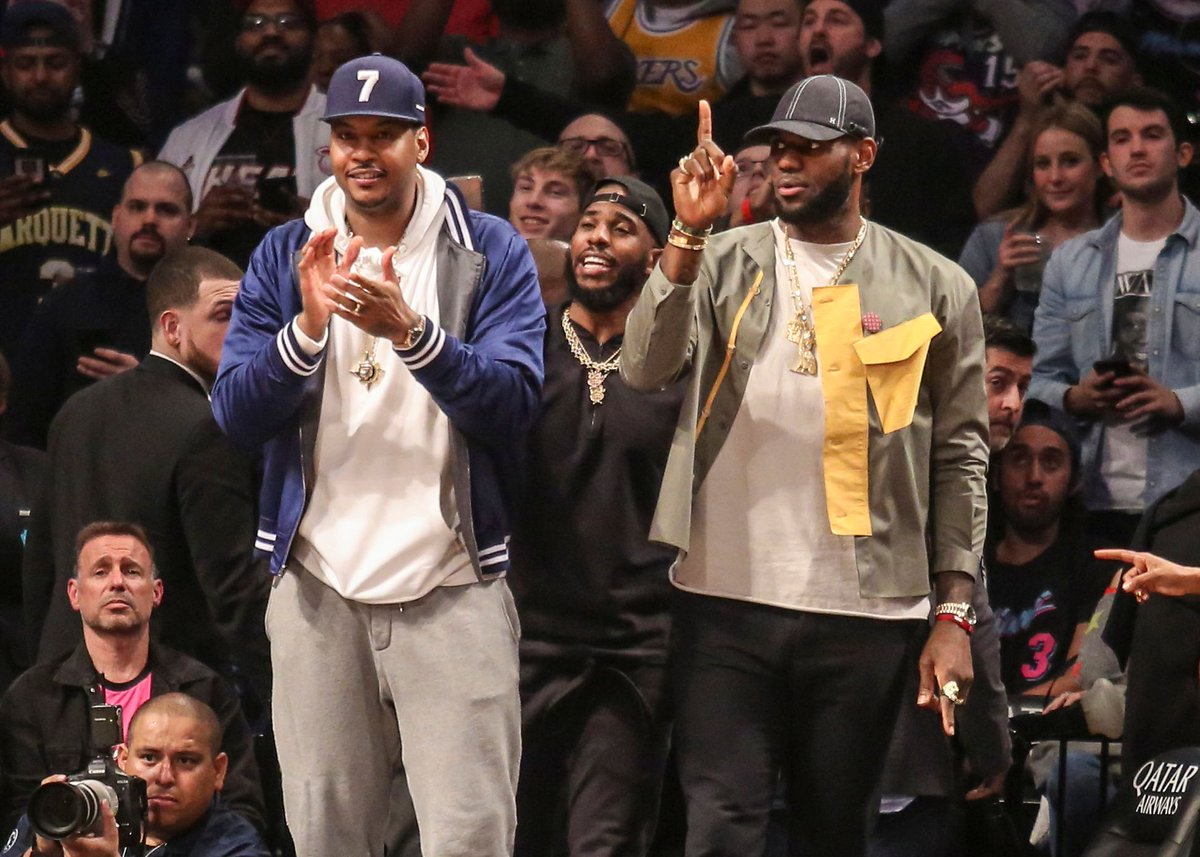 """@carmeloanthony credits @KingJames for saving his life. """"""""I look up at the boat and Bron jumps off the boat like he was MacGyver."""" Mr. James, #RipCity thanks you.  https://buff.ly/3asSneGpic.twitter.com/Gr937AKoVp"""