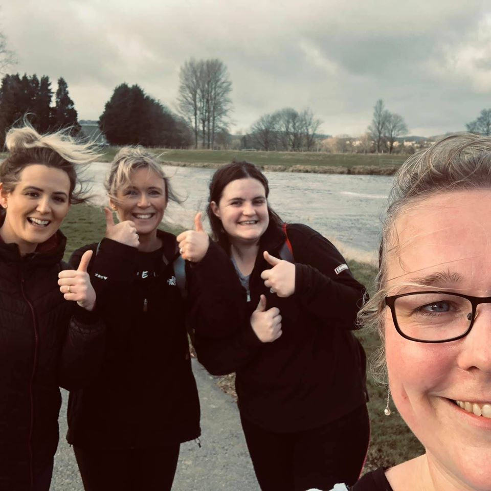 Glasgow #kiltwalk may have been postponed, but that isn't stopping our wonderful supporters Mairi, Amy, Susan and Rachael from training!  Thank you for your support 💛  Read Mhairi's story on our website:   #teambeatson #werewithyou @thekiltwalk