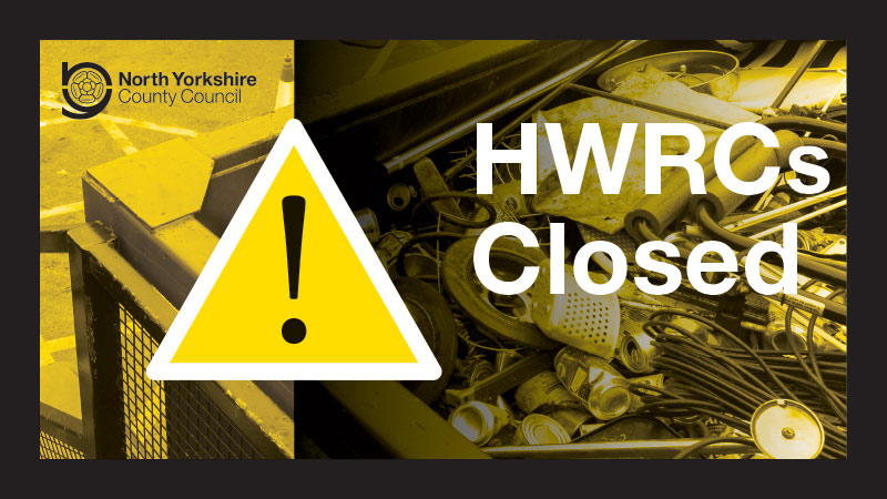 All of the Household Waste Recycling Centres in #NorthYorkshire are closed until further notice.  This does not affect your household refuse collection service.  Find out more ⬇️   #StayHomeSaveLives #Coronavirus