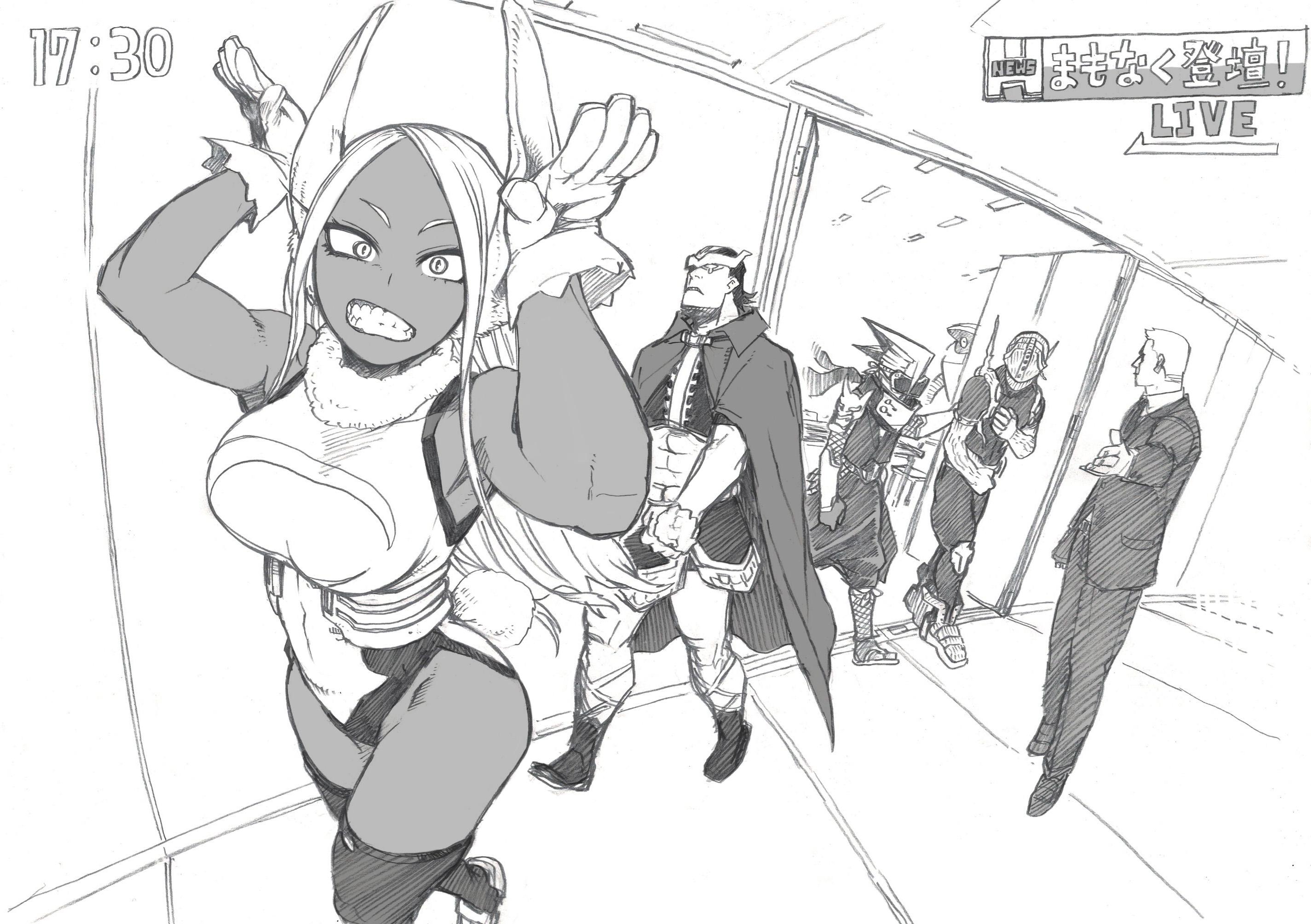 El autor de Boku no Hero Academia conmemora la aparición de Mirko y Hawks en el anime