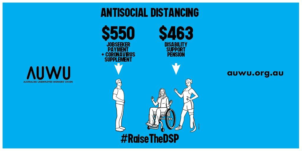 HELP US END ANTI-SOCIAL DISTANCING Sign our petition to #RaiseTheDSP megaphone.org.au/p/RaiseTheDSP
