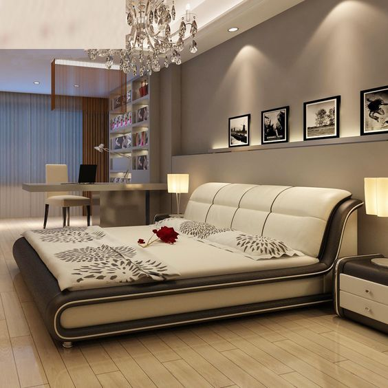 Modern Real Genuine Leather Bed is suitable for our bedroom decoration. #HomeDecor #furnituredesign #moderndesign #modernfurniture pic.twitter.com/nSL8FD0G9J