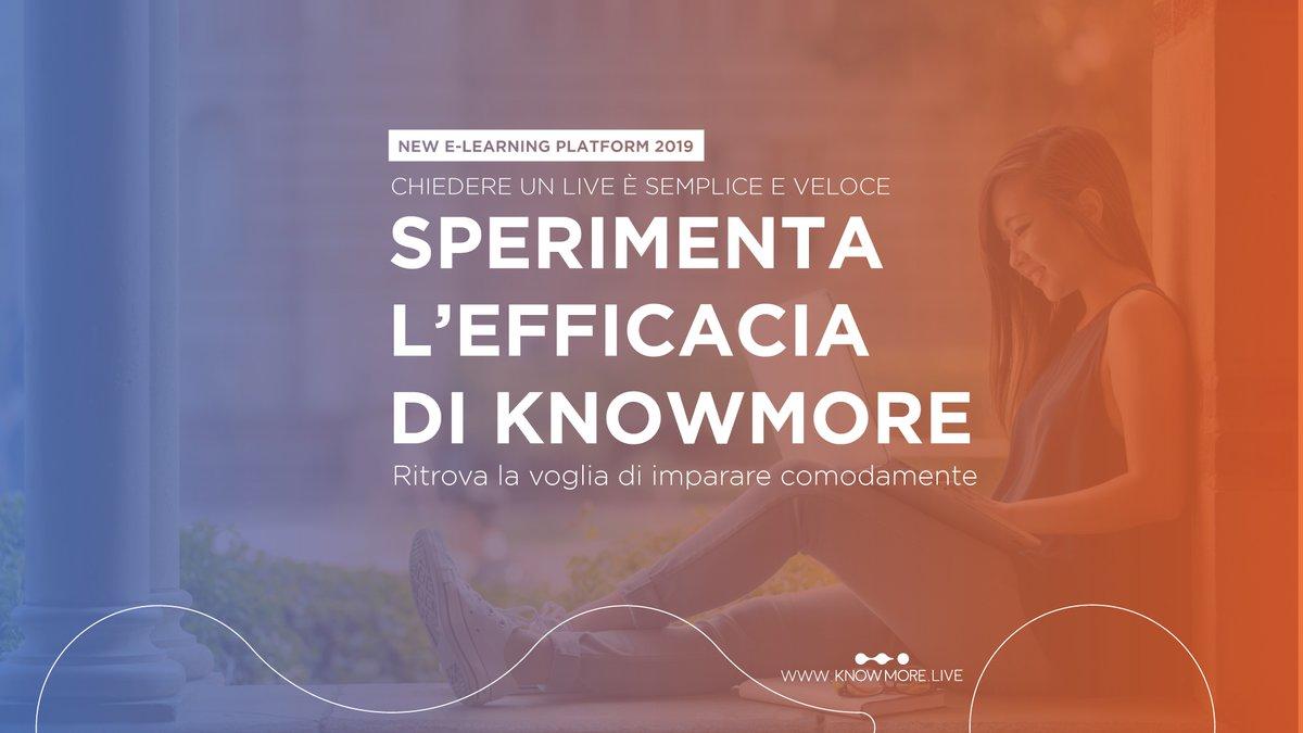 Ritrova la voglia di #impararecomodamente! #Partecipa a una #lezionelive, è semplice e veloce! Sperimenta l'#efficacia di #Knowmore  #elearning #piattaformaonline #corsionline #formazione #digitalcommunity #studenti #personalcoach  ISCRIVITI GRATIS http://www.knowmore.live/users/spic.twitter.com/lkseeYcUWU