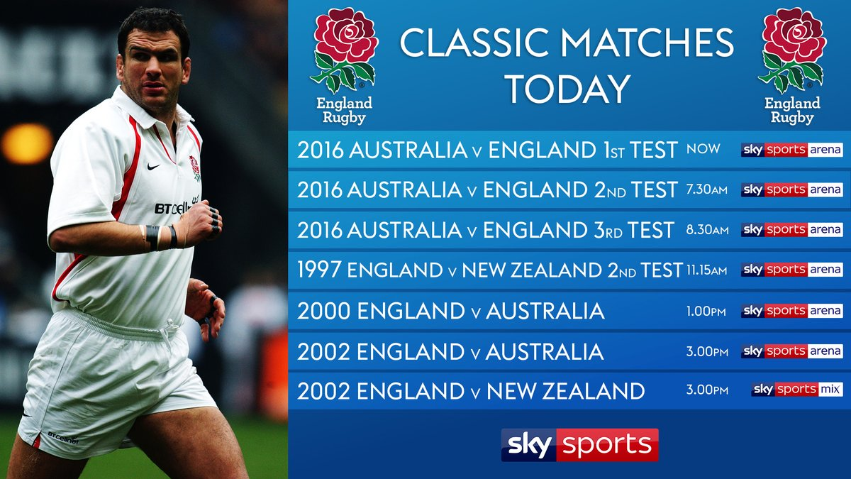 test Twitter Media - Been missing your rugby fix over the last few weeks?   We've got you covered today as we re-live 7 classic @EnglandRugby 🏴󠁧󠁢󠁥󠁮󠁧󠁿 matches.  We start in Brisbane as England begin their 2016 tour to face the @wallabies 🇦🇺. Now on SS Arena.  Details 👇 https://t.co/Aja7Wiyt8X