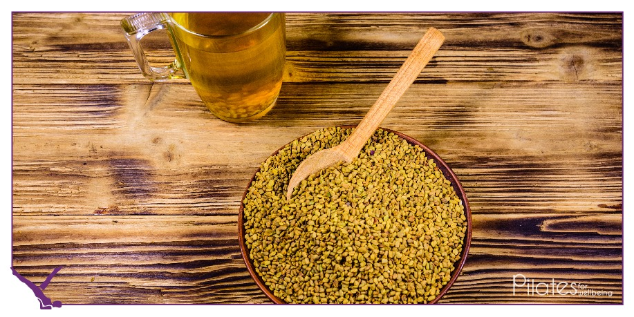 Fenugreek seeds.    How - Soak a teaspoon of seeds in a glass of water overnight and drink the water on an empty stomach in the morning.  #HealthyLiving #Nutrition #PilatesIndia #EatRight #Dieting #Fenugreek #FenugreekSeeds #PilatesLover #PilatesForEverybody #PilatesForLife pic.twitter.com/rJFIQpXuzP