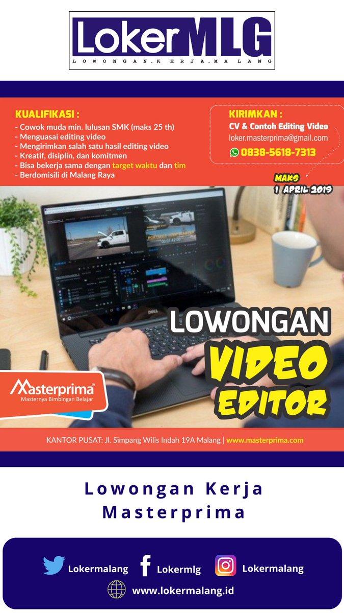 Lokermalang On Twitter Lokermlg Editor Video Deskripsi