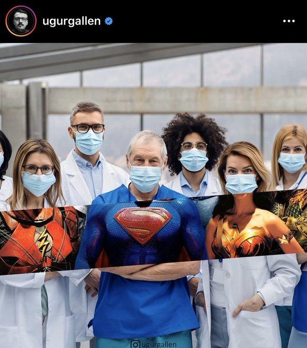 의 미디어: RT @doctarm: ฮีโร่ไม่จำเป็นต้องใส่ชุดคลุม ภาพนี้เจ๋งมาก #saveบุคลากรทางการแพทย์ https://t.co/ceXWrz
